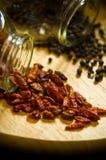 Peppar och chili Arkivfoto