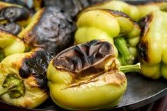Peppar på hotplaten Arkivfoto