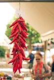 Peppar som hänger i en shoppa Royaltyfri Foto