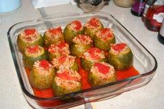Peppar välfyllt kött och ris, dolma Royaltyfria Bilder
