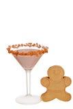 Pepparkaka martini med kakan Fotografering för Bildbyråer