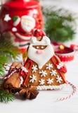 Pepparkaka Santa Claus royaltyfri bild