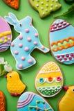 Pepparkakakakor för påsken, närbild Arkivfoton