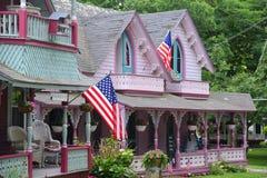 Pepparkakastugor, vingård för Martha ` s, MOR, USA royaltyfri bild