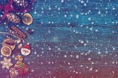 Pepparkakor för nya år och jul Arkivbilder