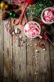 Pepparmintgodis Cane Ice Cream royaltyfri fotografi