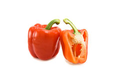 Pepper. Red pepper isolated on white Stock Images