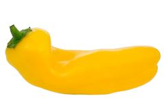 Pepper. Yellow sweet pepper isolated on white Stock Images