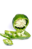 Pepper. Green bell pepper on white background Royalty Free Stock Images