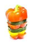 Multi colored bell pepper Stock Photos