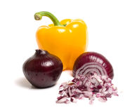 Free Pepper And Onion Royalty Free Stock Images - 12026829