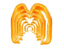Pepper art. Pepper slices royalty free stock photography