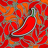 Pepper background Stock Image