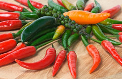 Pepper backgrounds Stock Photography