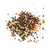 Pepper balls mix isolated as background image.  stock photography