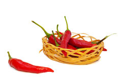 Pepper in the basket Royalty Free Stock Photos