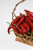 Pepper basket Royalty Free Stock Photo