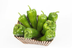 Pepper  in the basket Stock Images