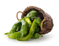 Pepper in a basket Royalty Free Stock Photos