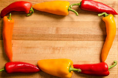 Pepper border Royalty Free Stock Image