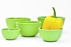 Pepper in a bowl Royalty Free Stock Image