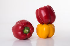 Pepper (capsicum). Green peppers by native of tropical South America chili evolved in North America, green peppers nutrition is rich, spicy is not spicy, pale Royalty Free Stock Images