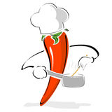 Pepper chef Royalty Free Stock Photo