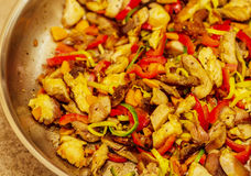 Pepper chicken. Chicken with pepper and other vegetables Royalty Free Stock Image