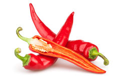 Pepper chili cut Stock Images
