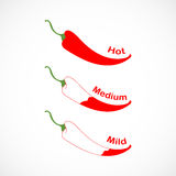 Pepper chilli  illustration Stock Photography