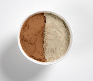 Pepper and Cinnamon Powder Royalty Free Stock Images