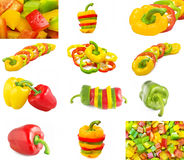 Pepper collage Royalty Free Stock Photo