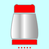 Pepper  it is color icon . Stock Photo