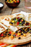 Pepper corn black bean quinoa burritos Royalty Free Stock Image