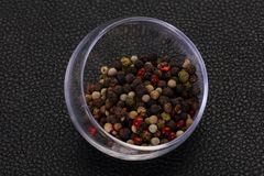Pepper corn mix. Black, red, white and green royalty free stock image