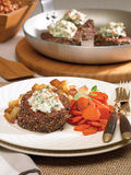 Pepper crusted beef tenderloin Stock Images