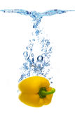 Pepper dropped in water Royalty Free Stock Photography