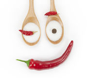 Pepper face Stock Photos