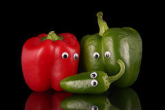 Pepper family. Royalty Free Stock Images