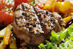 Pepper fillet steak Royalty Free Stock Image