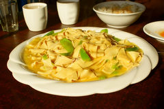 Pepper fried bean curd Royalty Free Stock Photos