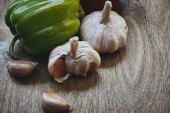 Pepper and garlic Stock Photos