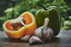 Pepper and garlic Royalty Free Stock Photo