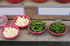 Pepper,Garlic in market in South Korea Stock Image