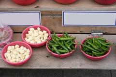 Pepper,Garlic in market in South Korea Stock Image