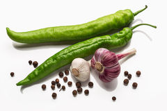 Pepper and garlic Royalty Free Stock Photos