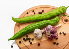 Pepper and garlic Stock Images