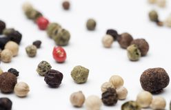 Pepper grains Stock Images