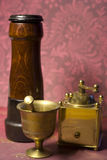 Pepper grinder. Modern and old fashioned Royalty Free Stock Photography
