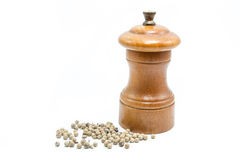 Pepper grinder Stock Images